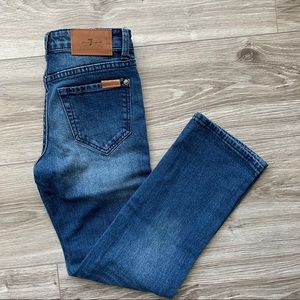 7 FOR ALL MANKIND Boys Jeans Straight Leg Size 8
